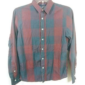 American Rag Check Plaid Button Up Cotton SZ S